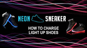 how to charge light up shoes how to charge light up shoes neon sneaker youtube