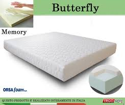 materasso antiallergico materasso memory mod butterfly singolo 80x190 anallergico