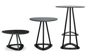 Black Pedestal Table Contemporary Pedestal Table Laminate Triangular Garden Pop