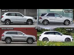 jeep grand mercedes 2016 bmw x5 v audi q7 v mercedes gle 500 v jeep grand