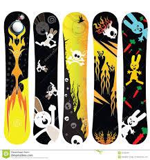 snowboard design snowboard design rabbit royalty free stock photos image 25582648