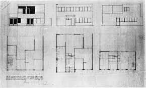 design for a house and studio for bertalan pór elevations and