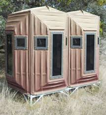 Plastic Deer Blinds Hunting Ground Blinds Two Man The Blynd Hunting Blinds San