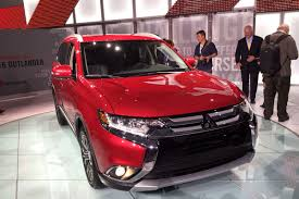 red mitsubishi outlander 2016 mitsubishi outlander pics specs and phev mpg details auto
