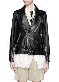 biker jacket vest 3 1 phillip lim detachable silk vest leather combo biker jacket in