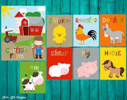 Farm Animal Nursery Decor Farm Nursery Decor Farm Nursery Farm Room Decor