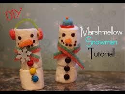 diy marshmallow snowman treat craftmas