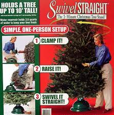 swivel 1 minute tree stand for real trees up