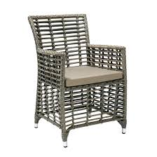 chair zenica with cushion 57x62xh86 aluminum frame with plastic