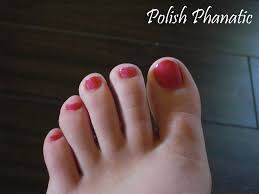 perk up week old pink toe nails polish phanatic