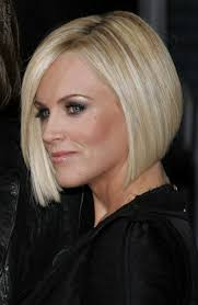 cutting hair so it curves under hair cut in a jenny mccarthy bob to soften a strong jaw line