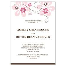 rehearsal dinner invite pink brown rehearsal dinner invitation templates
