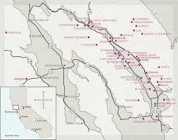 Map Of Napa The 90 Plus Wine Club Napa Valley Lifestyle Maps