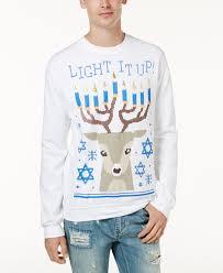 hanukkah t shirts american rag men s light it up hanukkah fleece created for macy s