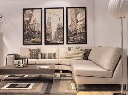 deco canapé déco salon cuir beige exemples d aménagements