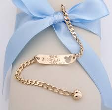 customized gold bracelets baby id bracelets 14k yellow gold alleyn id personalized baby
