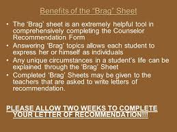 Guidance Counselor Brag Sheet Fuquay Varina High Junior Senior Information Ppt