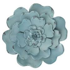 metal flowers blue layered metal flower wall decor from hobby lobby more