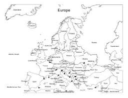 blank europe map with country names best photos of european continent map printable europe map with