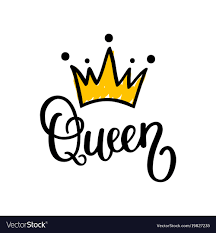 crown calligraphy design royalty free vector image