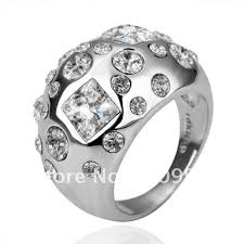 pretty diamond rings images Fashion 18k white gold ring pretty diamond rings star shape jpg