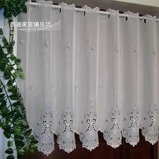 Kitchen Curtain Fabrics Semi Shade Embroidery Rustic Curtain Fabric Kitchen Curtains