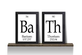 Geek Bathroom Accessories by Amazon Com Bath Periodic Table Of Elements Plaque 2 Piece Set