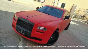 wrapped rolls royce project rolls royce ghost wrapped in matte red by dbx diamond