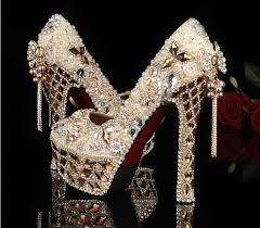 wedding shoes jeweled heels 2014 gorgeous shoes luxury rhinestone wedding bridal dress