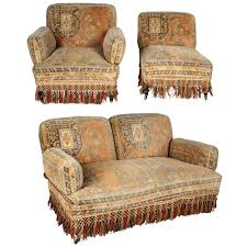 Chair Sets For Living Room 19th Century Au Bon Marché Moorish Tapestry Sofa And Chairs Set
