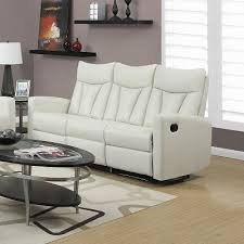 ivory leather reclining sofa dabert reclining sofa in ivory modern city furniture canada