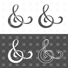 wedding invitation symbols custom ersand symbol for wedding invitation vector clipart