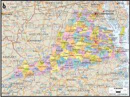 Virginia Map Counties by Geoatlas United States Canada Virginia Map City Illustrator