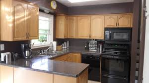black kitchen appliances ideas 78 great commonplace brown cabinets with black appliances kitchen
