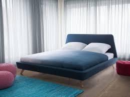 Blue Bed Frame Bed King Size Bed Frame Upholstered 180x200 Cm