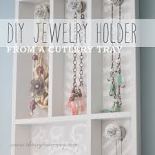 jewelry holder necklace images Make a jewelry holder from a cutlery tray the diy mommy jpg