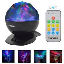 Schlafzimmer Lampe Schwarz Toplite Ozean Projektor Mit Mp3 Handy Musik Lautsprecher