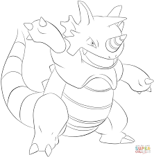rhydon coloring page free printable coloring pages
