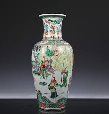 Chinese Hand Painted Porcelain Vases Large Antique Chinese Famille Verte Porcelain Vase With Figures