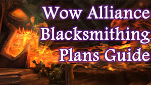 wow blacksmithing video guide where to find alliance vendor plans