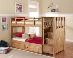 Twin Bunk Bed With Desk And Drawers Bunk Beds With Stairs And Slide Drawers On Beige Floor Matched