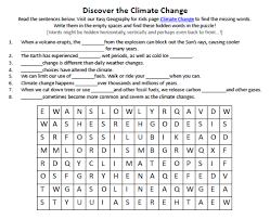 Global Warming Worksheet Image Of Climate Change Worksheet Printable Activity Sheet For