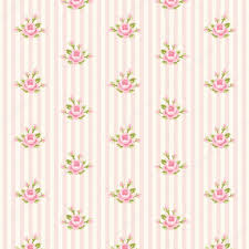 shabby chic wrapping paper shabby chic pattern with roses on striped background stock