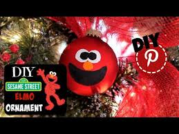 diy sesame elmo ornament