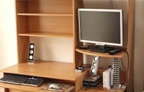 meuble bureau fermé l gant bureau pour ordinateur fixe ordi meuble ferme beraue agmc dz