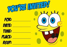 spongebob party invitations free printable printable invitations