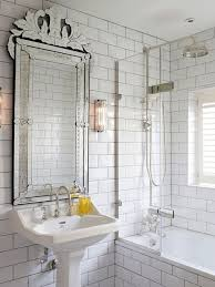 Stunning Bathroom Mirror Frames Replacement Silver Rail White