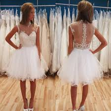 online get cheap elegant evening white dress knee length