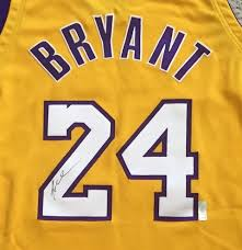 charitybuzz authentic los angeles lakers jersey signed by kobe