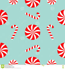 christmas candy cane round white and red sweet set seamless
